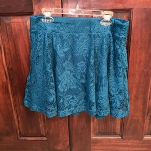 Charlotte Russe lace skirt with slip